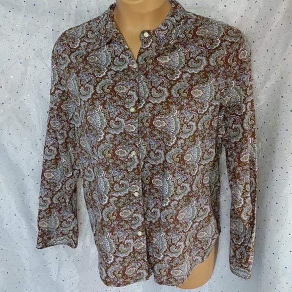 GAP Tops - ➕ XXL GAP Paisley Button Up Shirt